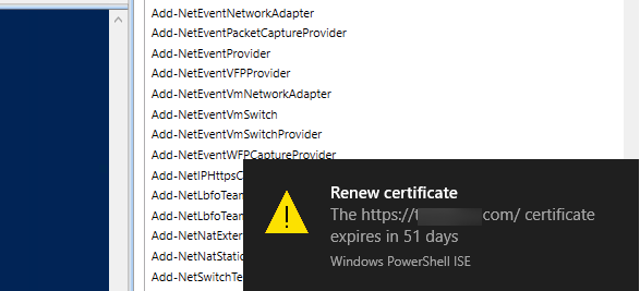 PowerShell: Create a Certificate Expiration Popup Notification