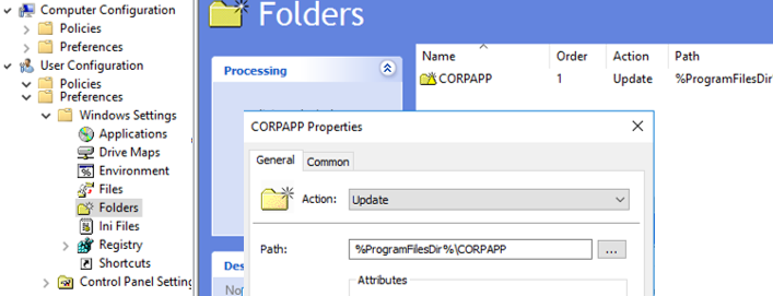 copy folder with GPO