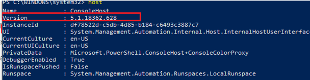 Find PowerShell Version in Windows