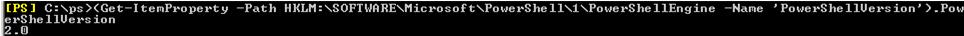 get 'PowerShellVersion' on windows server 2008 r2 / winn 7