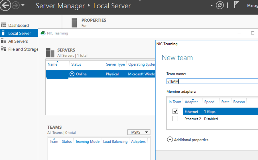 windows server 2012 configuring nic teaming