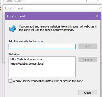 add zabbix url to local zone