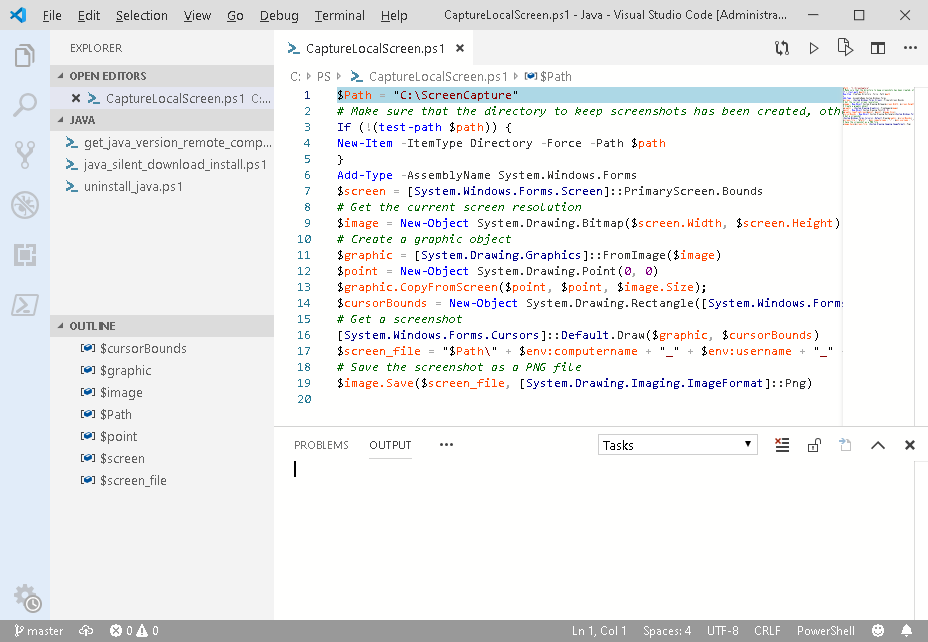 CaptureLocalScreen - powershell screen take desktop screenshot