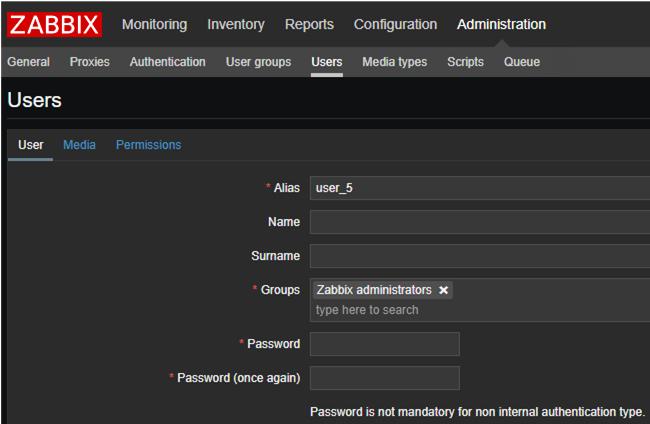create new zabbix user for AD domain