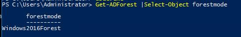 Get-ADForest forestmode