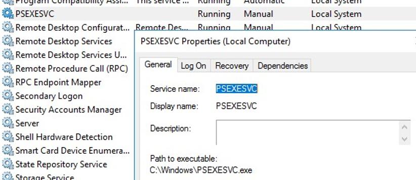 PSEXESVC service