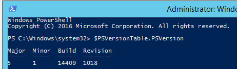 update to windows powershell 5.1
