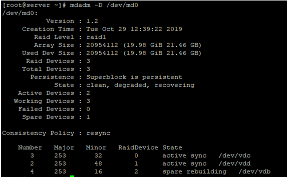 adding new drive to mdadm software array