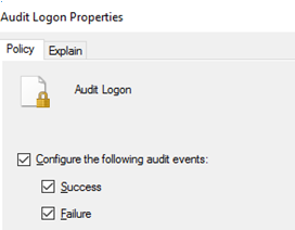 enable user logon audit policy in active directory