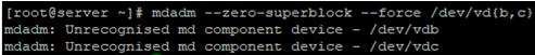 mdadm zero-superblock