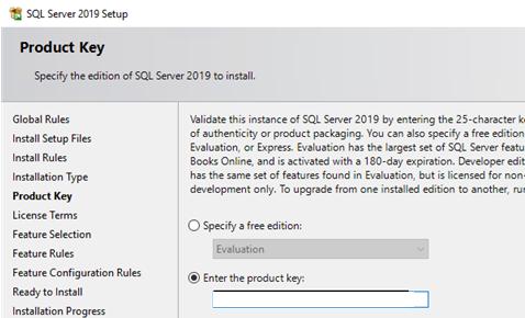 set sql server product key (license)