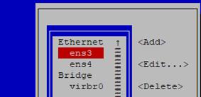 edit network settings using nmtui