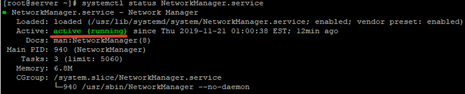 NetworkManager.service in CentOS/RHEL 8
