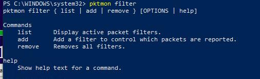 pcktmon using filters