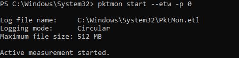 pktmon start packet capture