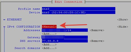 set an ip address manually on centos
