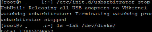 stop usbarbitrator to directly connect USB device to vmware esxi host