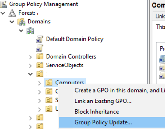 updating GPO parameters remotely via GPMC console