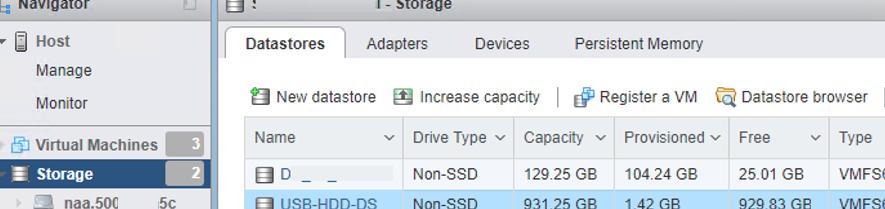 usb stick as a vmfs datastore on vmware esxi