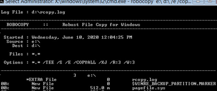 using robocopy to clone windows installation to a new HDD/SSD