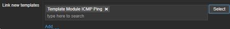 zabbix link new templates
