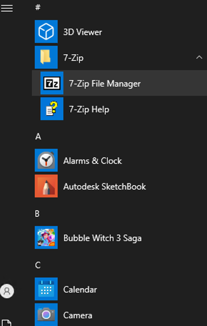 newly installed software on windows 10