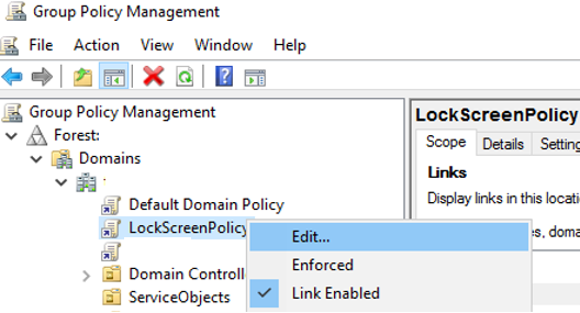 create new Group policy to lock Windows computer after inactivity