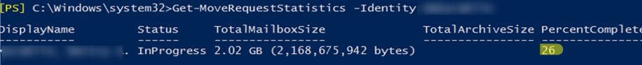 Get-MoveRequestStatistics - monitoring exchange mailbox moves