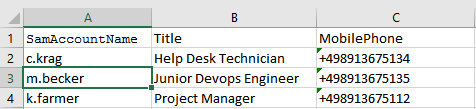 Modifying Active Directory Users in Bulk using CSV File