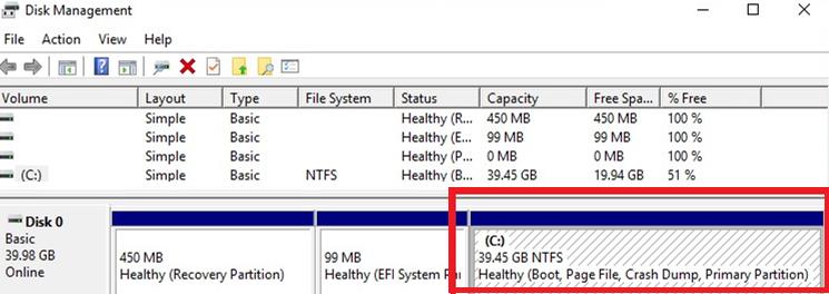Shrink a Hard Drive Volume in Windows