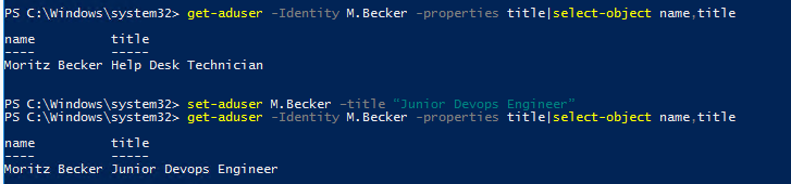 Using Set-ADUser PowerShell cmdlet to update user attributes in Active Directory