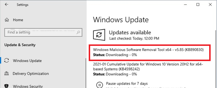 windows update KB890830 - Windows Malicious Software Removal Tool x64