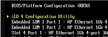 HPE RBSU - iLO 4 Configuration Utility