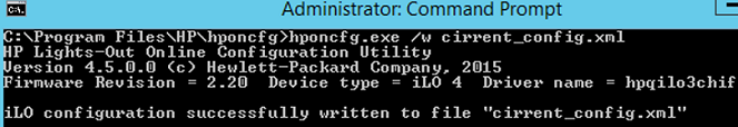 hponcfg.exe - reset hpe ilo password using honcfg.exe tool