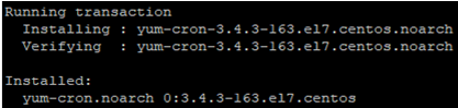 install yum-cron on linux centos 7 or RedHat 7