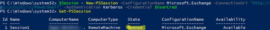 New-PSSession Microsoft.Exchange ConnectionUri