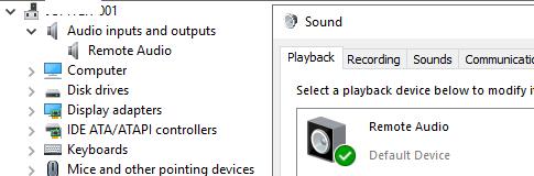 rdp remote audio device
