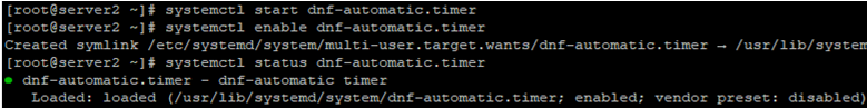 run dnf-automatic.timer