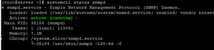 run the snmpd service on linux host