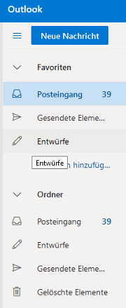 How to change the Outlook display language of main folders?