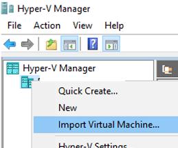 hyper-v import virtual machine