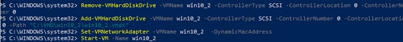 hyper-v set dynamic mac address