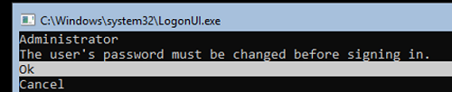 logonui.exe on server core - set administrator password