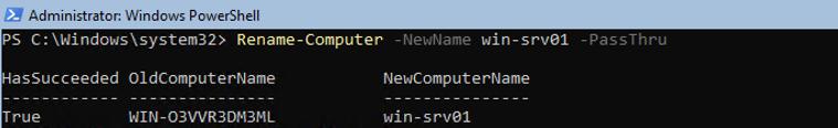 Rename-Computer powershell