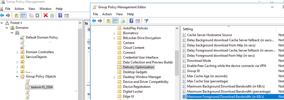 updated admx templates in the group policy management console