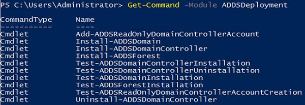 ADDSDeployment PowerShell module - promotr the domain controller