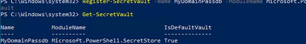 create local SecretStore vault