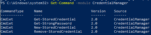 CredentialManager powershell module
