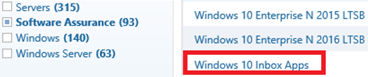 download Windows 10 Inbox Apps ISO image VLSC