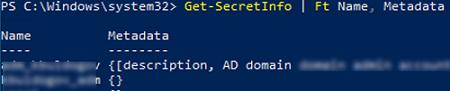 get credentials from secret vault using powershell